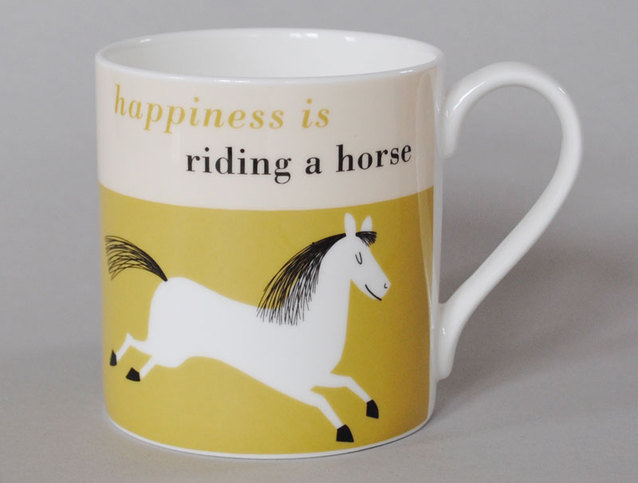 Repeat Repeat Happiness Horse Olive Mug