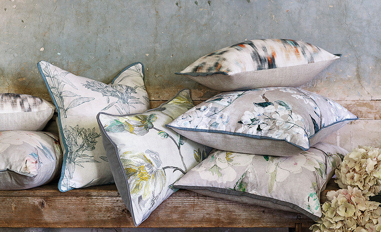 Romo Japonica Embroidery Cushion Cypress