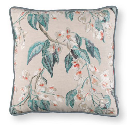 Romo Wisteria Embroidery Cushion Cayenne