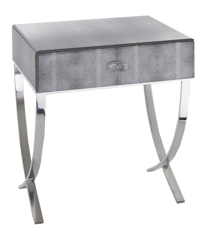 Rvs Side Table.R V Astley Arlo Side Table Black Shagreen