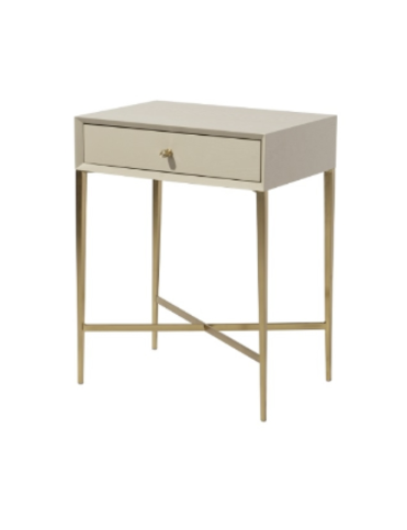 R V Astley Finley Ceramic Grey Side Table Thumbnail