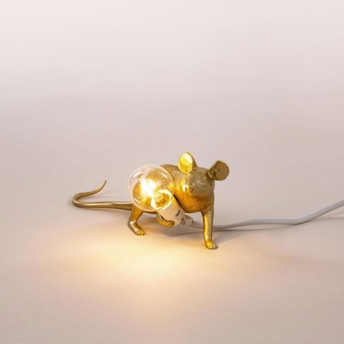 Seletti Mouse Gold Lop Lamp