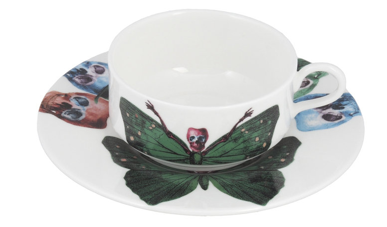 The New English Lepidoptera Crudus Mocha Cup & Saucer