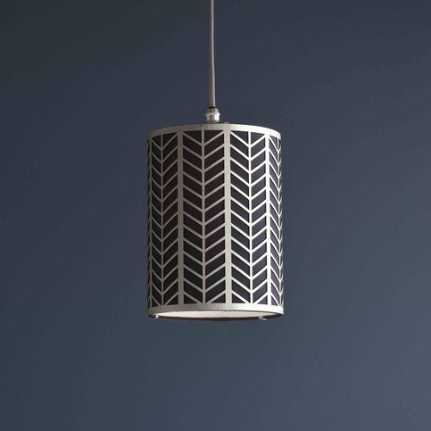 Tigermoth Mini Pendant Light with Flat Nickel and Ink Lattice