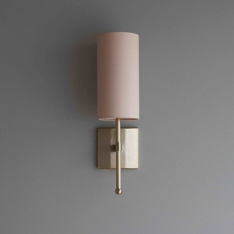 Tigermoth Single Stem Gold Wall Light with Orchid Silk