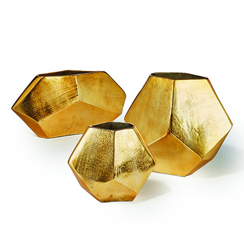 Tozai Golden Diamond Shaped Vase