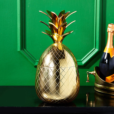 Twos Company Golden Pineapple Ice Bucket Thumbnail