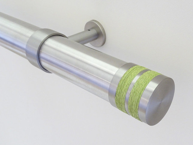 Walcot House 50mm Stainless Steel Curtain Pole with Small Bobbin ...