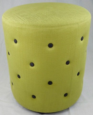 Wychwood Buttoned Lime Green Stool Thumbnail