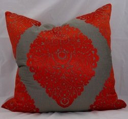 Orange and Grey Cushion