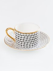 Anatomy Boutique Anatomy of Digestion Cup & Saucer - Teeth
