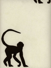 Andrew Martin Cheeky Monkey Ebony Wallpaper