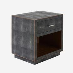 Andrew Martin Fitz Grey Bedside Table
