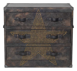 Andrew Martin Howard Star Studded Fudge Chest of Drawers