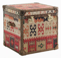 Andrew Martin Kilim Cube Chest Side Table