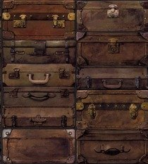 Andrew Martin Luggage Leather Wallpaper
