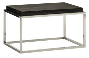 Andrew Martin Petrified Wood Side Table - Black