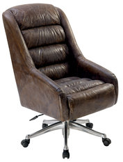 Andrew Martin Rainier Brown Swivel Chair