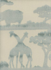 Andrew Martin Safari Giraffe Duck Egg Fabric