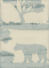 Andrew Martin Safari Lion Duck Egg Fabric