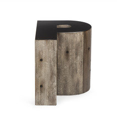 Andrew Martin Wooden Alphabet P Side Table