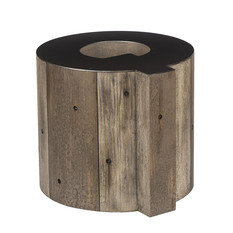 Andrew Martin Wooden Alphabet Q Side Table