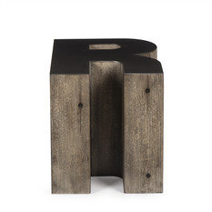 Andrew Martin Wooden Alphabet R Side Table