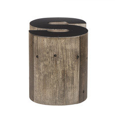 Andrew Martin Wooden Alphabet S Side Table
