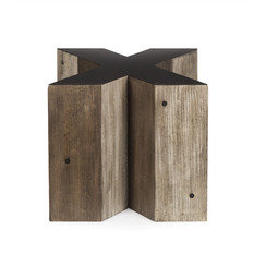 Andrew Martin Wooden Alphabet X Side Table