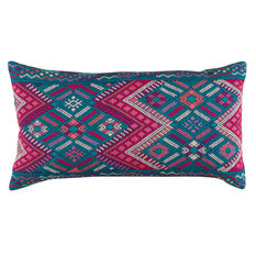 A Rum Fellow Chixoy Brocade Bolster Cushion - Multi