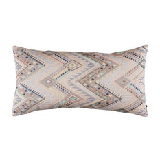A Rum Fellow Coyolate Brocade Bolster Cushion - Arctic