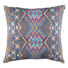 A Rum Fellow Kaya Brocade Cushion - Blue