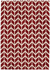 Asiatic Arlo Chevron Red Rug