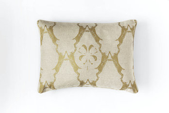 Barneby Gates Boxing Hares Gold Cushion