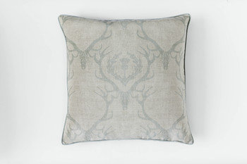 Barneby Gates Deer Damask Duck Egg Cushion