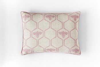 Barneby Gates Honey Bees Rose Cushion