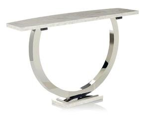 Branch Interiors Orbit White Console Table