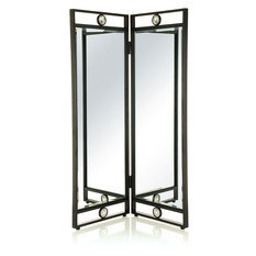 Branch Interiors Papillon Black Bi-Folding Screen