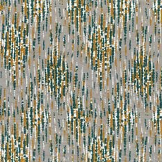 Casamance Madrigal Green English / Copper Fabric