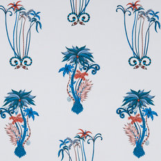 Emma J Shipley for Clarke & Clarke Jungle Palms Blue Wallcovering