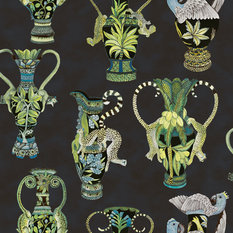 Cole & Son Khulu Vases Blue Wallcovering