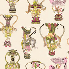 Cole & Son Khulu Vases Cream Wallcovering