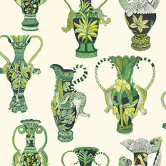Cole & Son Khulu Vases Green Wallcovering