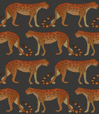 Cole & Son Leopard Walk Charcoal Wallcovering