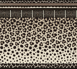 Cole & Son Zulu Border Black and White Wallcovering