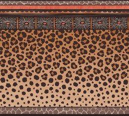 Cole & Son Zulu Border Brown Wallcovering
