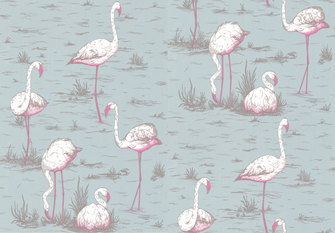 Cole & Son Flamingos Wallcovering