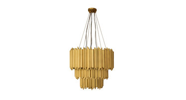 Delightfull Brubeck Chandelier 3 Gold Plated