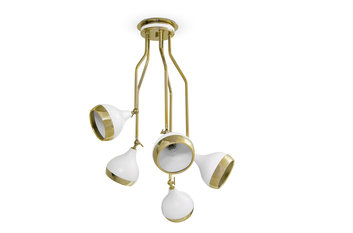 Delightfull Hanna Gold Plated & White Chandelier