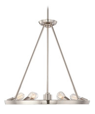 Elstead Lighting Quoizel Theater Row Imperial Silver Chandelier